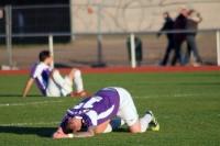 Enttäuschung nach dem 1:1 bei Eintracht Mahlsdorf