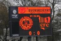 Anzeigetafel im Berliner Mommsenstadion