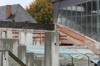 Baustelle Städtisches Stadion an der Grünwalder Straße, Herbst 2012