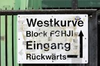 Eingang Westkurve, Städtisches Stadion an der Grünwalder Straße