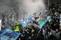Fans des TSV 1860 München lassen es qualmen