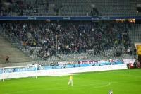Gästebereich beim Spiel TSV 1860 München gegen Erzgebirge Aue