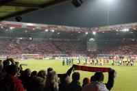 Einlaufen der Mannschaften, der TSV 1860 München zu Gast beim 1. FC Union Berlin