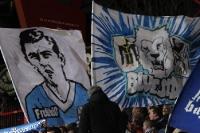 Fans / Ultras des TSV 1860 München feiern den 1:0-Sieg beim 1. FC Union Berlin, 24.02.2012