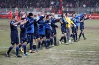 Spieler des TSV 1860 München feiern das 1:0 beim 1. FC Union Berlin, 2010/11
