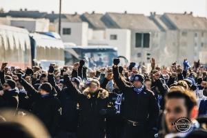 Marsch der 1860-Fans in Nürnberg