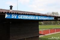 Jahn-Sportplatz des SV Germania Schöneiche (gegen den BFC Dynamo)