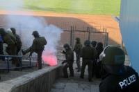 Polizei verhindert schlimmeres, die Luft brennt bereits vor der Partie V. Frankfurt - Babelsberg 03