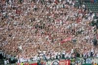Anhänger des VfB Stuttgart beim Pokalfinale im Olympiastadion