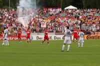 Fans des VfB Stuttgart beim BFC Dynamo