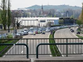 Leere Straßen nach dem Spiel gegen Dresden