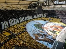 Stuttgarter Choreo gegen Karlsruhe