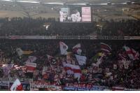 VfB Stuttgart Fans in der Cannstatter Kurve