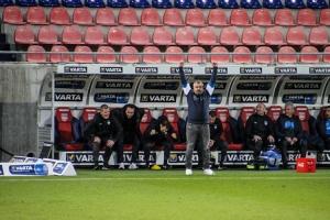 Thomas Reis Trainer VfL Bochum Jubel Auswärtssieg