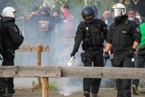 Polizeieinsatz VfL Bochum Fans Aufstiegsfeier 1. Bundesliga 23-05-2021