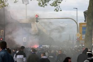 Pyro VfL Bochum Fans Aufstiegsfeier 1. Bundesliga 23-05-2021