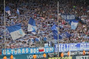 Bochum Fans im Spiel gegen St- Pauli