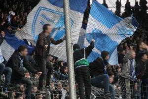 Bochum Fans, Spieler feiern Sieg gegen Würzburg