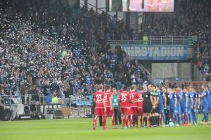 Pilsrosetten Konfetti Choreo Ostkurve Bochum gegen FCK