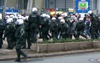 Polizeieinsatz nach dem Spiel VfL Bochum - VfL Osnabrück