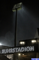 Ruhrstadion Bochum bei Regen