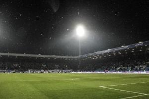 Schneefall im Ruhrstadion