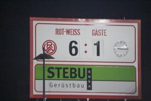Anzeigetafel 6:1 Rot-Weiss Essen vs. Wuppertaler SV 25-11-2020