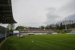 Stadion am Zoo WSV gegen RWE Banner 08-05-2021