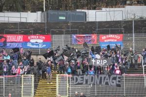 Protest gegen Montagsspiele in Wuppertal gegen RWE