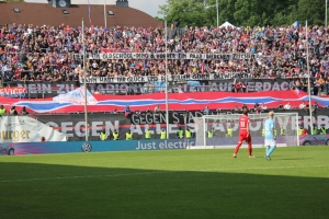 Spruchbänder WSV Ultras gegen KFC Pokalfinale 2019