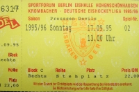Ticket EHC Eisbären Berlin - Preussen Devils, 17. September 1995