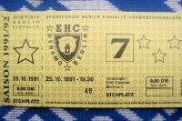 Ticket EHC Dynamo Berlin - Grefrather EC, 25. Oktober 1991
