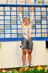 Kristina Vogel bei der Siegerehrung