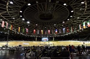 Berliner Velodrom beim Weltcup