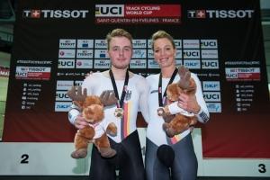 Moritz Malcharek und Charlotte Becker