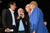 Karsten Migels, Uwe Seeler, Franz Beckenbauer, Axel Lange