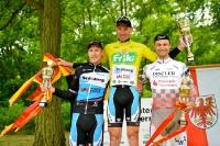 Nico Heßlich auf dem Siegerpodest, Oderrundfahrt 2013