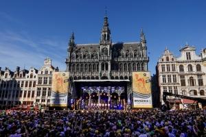 Teampräsentation in Brüssel