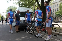 Das Nationalteam Russland mit Alexey Markov vor dem Start des Pro Race Berlin 2011
