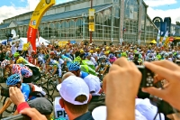 Start der 8. Etappe Belfort / Porrentruy, 99. Tour de France 2012