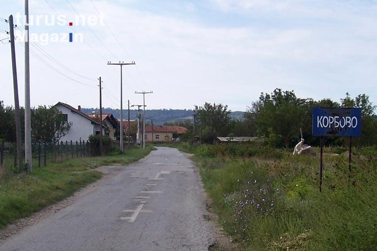 Foto: Ortseingang von Korbovo, Republik Serbien - Bilder ...
