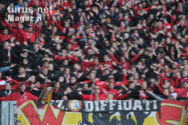 Union Berlin Fans in Duisburg