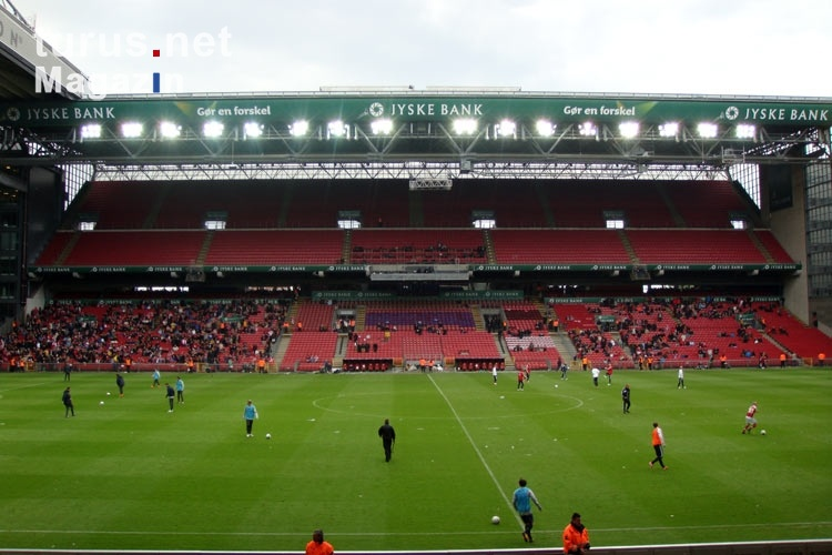 Foto: Länderspiel Dänemark - Australien im Stadion Parken ...