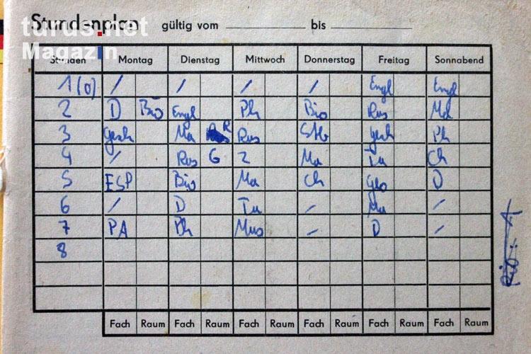 Foto: Stundenplan im Hausaufgabenheft an der POS - Bilder ...