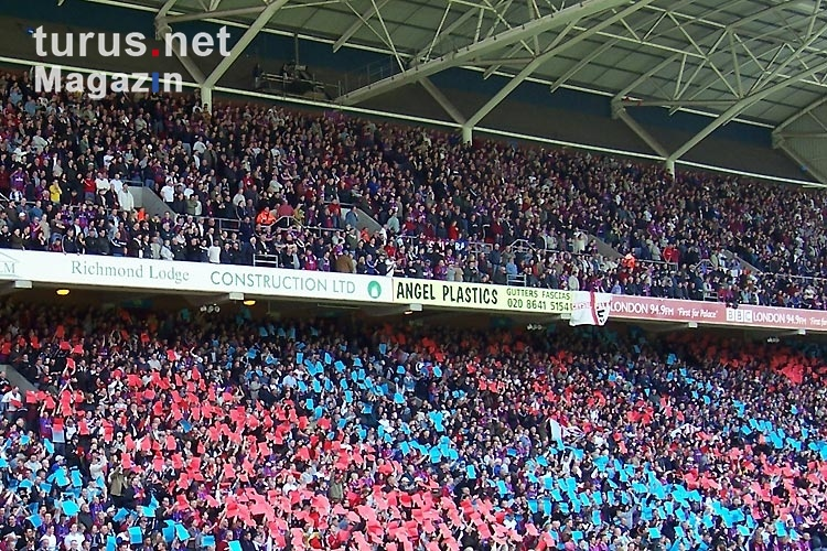Fans von Crystal Palace im Selhurst (London)