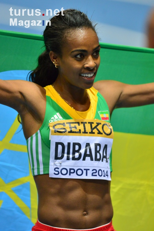 Genzebe Dibaba in Sopot, WM 2014