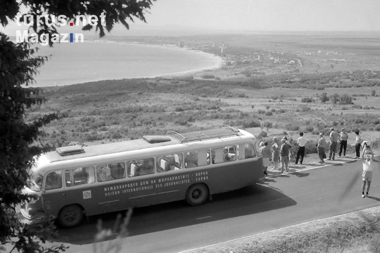 Reisebus des Maison Internationale des Journalisties in Varna / Bulgarien, 1960er Jahre