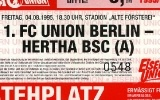 1. FC Union Berlin vs. Hertha BSC Amateure 04.08.1995