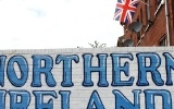 Welcome to Northern Ireland - Schriftzug an der Sandy Row in Belfast