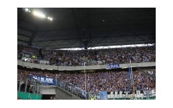 Schalker Support in Duisburg